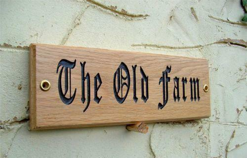 Wooden house name sign ebay for House sign designs
