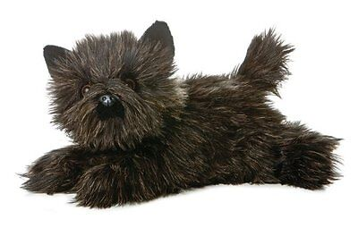 Dog Plush Toto Cairn Terrier Black Flopsie 12""