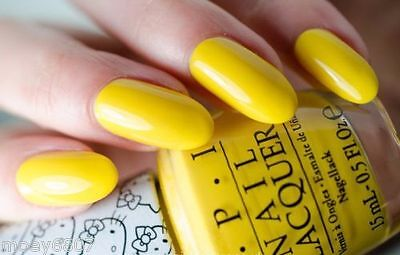 Opi Hello Kitty My Twin Mimmy Bright Sunny Yellow Nail Polish Lacquer H88 New