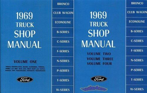 1968 FORD  BRONCO 1969  CLUB WAGON /& ECONOLINE  SHOP MANUAL