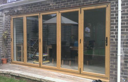 Upvc folding patio doors ebay for Upvc folding doors