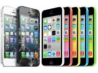 iPhone 5C/5S Cracked Broken Screen Digitizer Touch LCD Repair Service Replacement £35