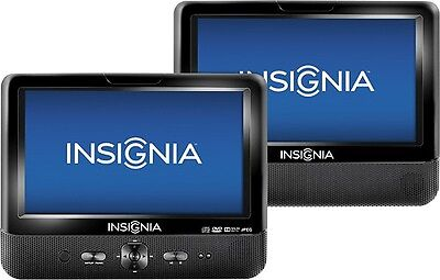 "Insignia 9"" Dual Screen Portable DVD Player NS-D9PDVD15 Black"