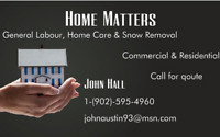 Home Matters  (Snow Removal, Yard & Home Care)