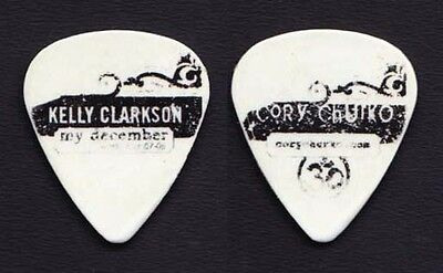 Kelly Clarkson Cory Churko Concert-Used Guitar Pick - 2007-2008 My December Tour