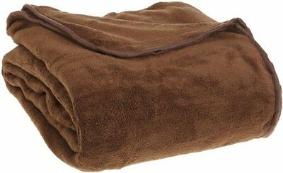 All Seasons Micro Fleece Plush Solid Full Queen Blanket Chocolate...