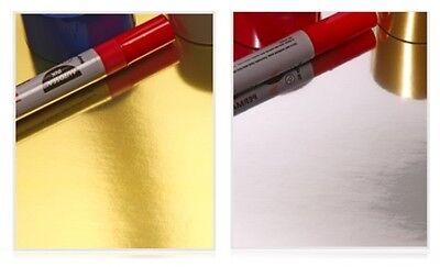 10 x A4 Mirri Board Metallic Mirror Card Stock Sheets Gold Silver Mat & Layering (Gold Card Stock)