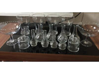 Glass & Flower Vases, jars, small and medium, for wedding, collection free