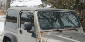 Hard Top Tinted Glass Newer Style fits ALL years Jeep TJ.
