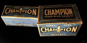 Two Champion spark plug gasket boxes $5.00--- And others