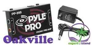 PylePro (PP999) Compact Ultra-Low Noise Phono Turntable Preamp with 12-Volt Adaptor - Preamplifier