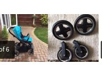 Oyster travel system in blue or black brilliant condition