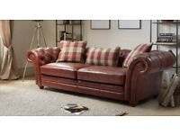 Brand new DFS Beckford 3 seater leather sofa