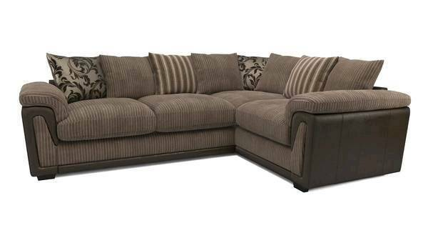 Brown Corner sofa and arm chair