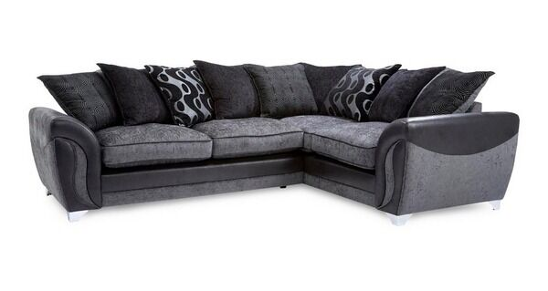 Dfs Corner Sofa Black Grey