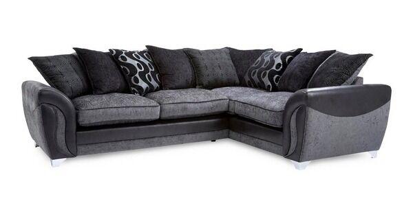 Dfs Corner Sofa Black Amp Grey In Sheffield South