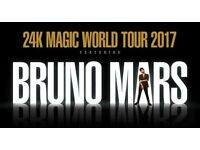 Bruno Mars @ The O2 - 24K Magic Word Tour - Excellent View Tickets For Sale