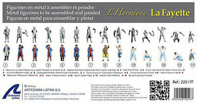 Artesania Latina Set of 14 unpainted Metal Figures Hermione La Fayette # 22517F