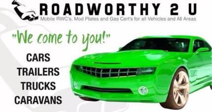Mobile Roadworthy RWC Mod Plate Gold Coast HVRAS