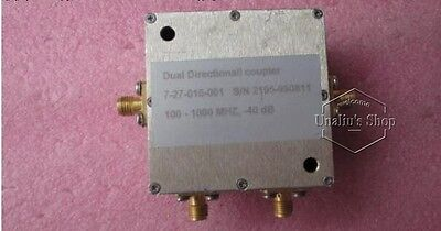 used 7-27-010-001 100-1000MHz 40dB SMA  RF coaxial dual directional coupler