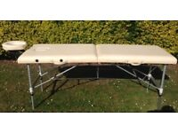 Portable Massage Table/Couch with adjustable height - good condition
