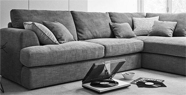 Next Stratus Corner Sofa Grey Right Chaise New In