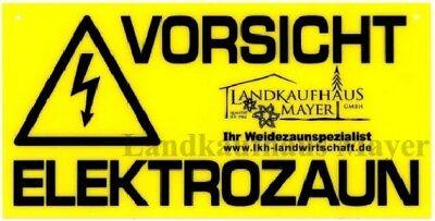5 St. Warnschild Vorsicht Elektrozaun Weidezaun Hinweisschild