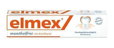 elmex mentholfrei Zahnpasta mit Faltschachtel, homöopathiegeeignet 75 ml PZN: 49
