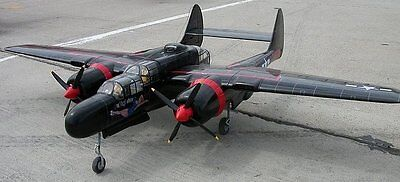 Used, Northrop P-61 BLACK WIDOW scratch build R/c Plane Plans 57 in. wingspan for sale  USA