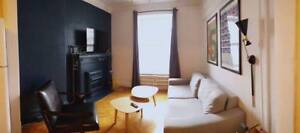 August Sublet: 1 room in a fully furnished 61/2 , Downtown MTL