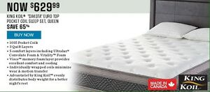 SEARS KING KOIL DAKOTA QUEEN EUROTOP MATTRESS