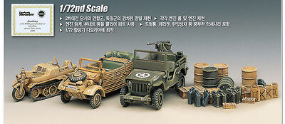 Academy Ground Vehicles SET Allied&Axis 1/72 Plastic Model Kits 13416