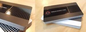 Silk Laminated Spot UV Business cards