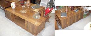 Coffee End Side Tables Used Livingroom Furniture Wood Brown Set