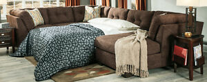 Divan Sofa sectionnel chocolat