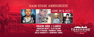 TRACKSIDE music festival 2-day GA hard copy ticket June 30-July1