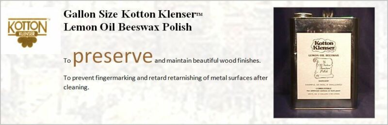 SUPERSIZE KOTTON KLENSER WOOD CLEANING RESTORATION ANTIQUE KIT
