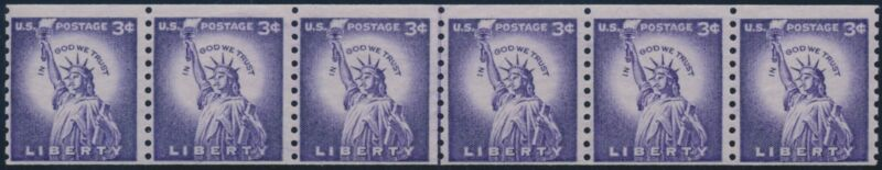 #1057d Str/6 Line Pair; Pse Cert Tagged Small Holes (look Magazine Coil) Br8954
