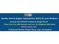 Search Engine Optimisation (SEO), website design and graphic design