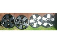 ford feista 4stud black alloy rims.50 pounds