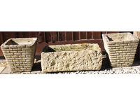 3 Stone Planters