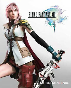 Final Fantasy XIII Game & Complete official guide book.