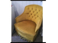Beautiful vintage velvet chair