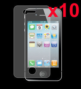 10x LCD Screen Protector Film Guard for iPhone 4 4S Ultra Crystal Clear New