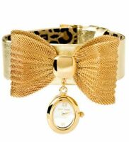 AUTHENTIC Betsey Johnson Gold Mesh Bow still with box City of Montréal Greater Montréal Preview