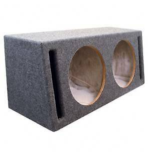 TWIN 12 INCH SUB WOOFER BOX BRAND NEW PORTED & CARPETED