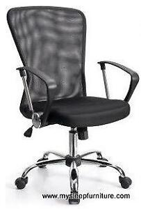 6040 COMPUTER CHAIR IN MESH FABRIC- BLACK OR BLUE- BRAND NEW