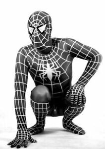 Full Body Lycra Spandex zentai costume red&blue OR black Spiderman cospaly suit
