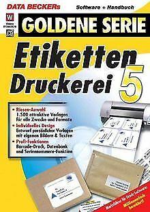 Etiketten-Druckerei 4 von Data Becker | Software | Zustand sehr gut