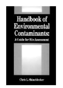 Handbook of Environmental Contaminants hardcover